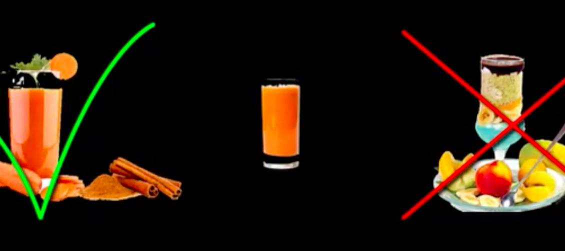 چرا معجون به جای آب هویج (اهیمت دادن به نیاز مخاطب)